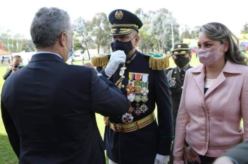 El tolimense Fernando Murillo Orrego recibió el ascenso a Mayor General de la Policía Nacional. 1