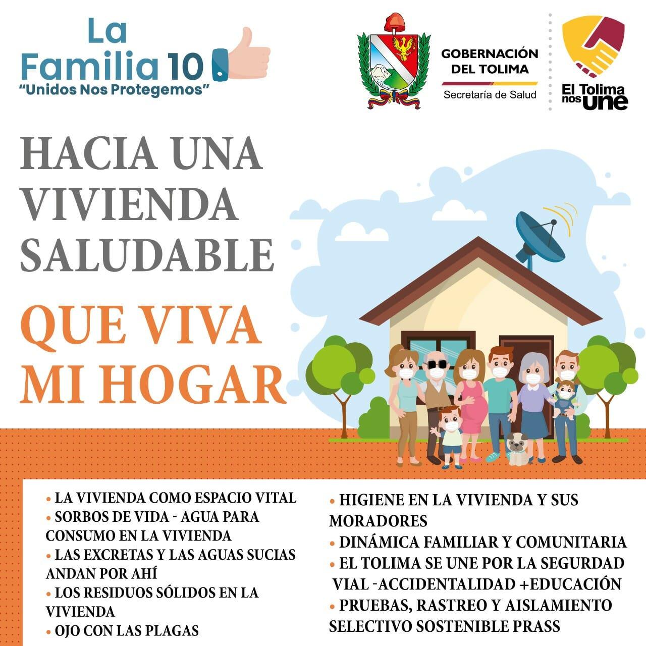 Entornos saludables. La estrategia de Vivienda saludable ha beneficiado a más de 100 familias en en 6 municipios del Tolima 1