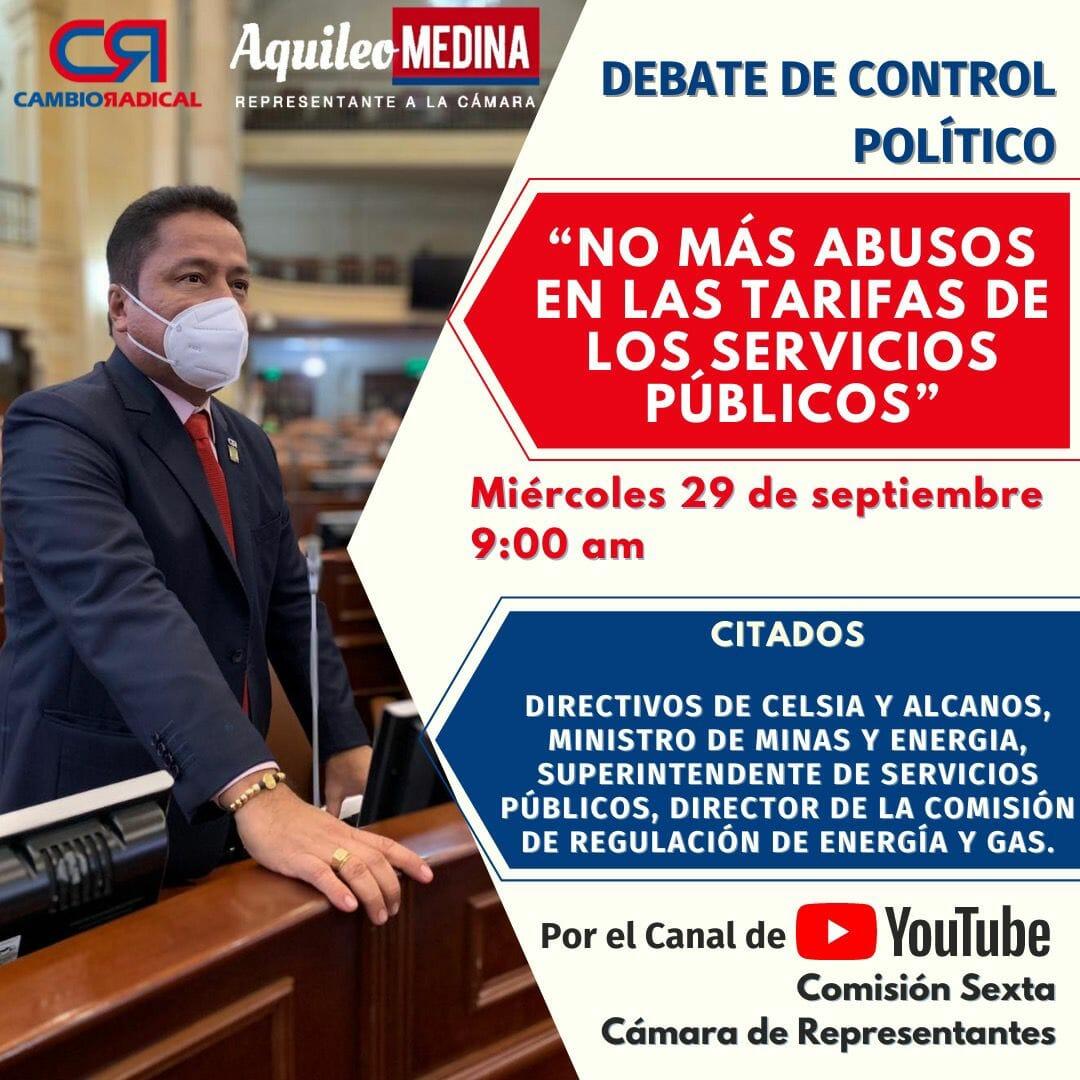 Celsia y Alcanos a responder en el Congreso por el alza en sus tarifas. 1
