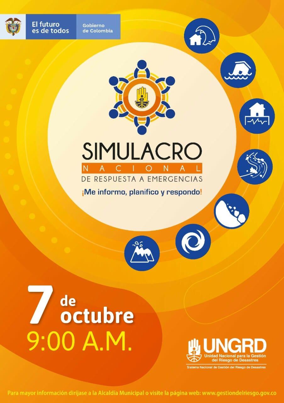 El 7 de octubre haga parte del simulacro nacional. 1